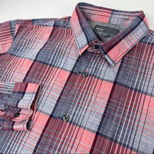 Vince Plaid Long Sleeve Button Front Shirt